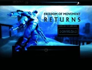 legionsoverdrive.com screenshot