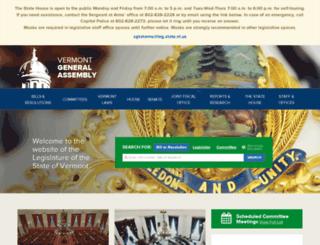 legislature.vermont.gov screenshot