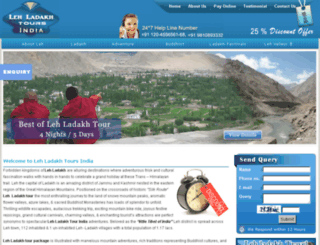 lehladakhtoursindia.com screenshot