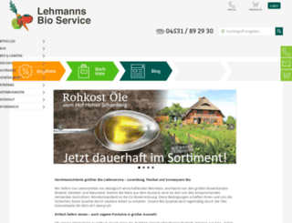 lehmannsbio.de screenshot