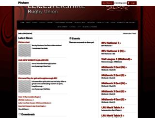 leicestershireru.pitchero.com screenshot