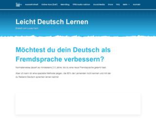 leicht-deutsch-lernen.com screenshot
