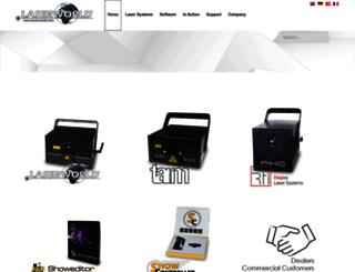 leisure.laserworld.com screenshot