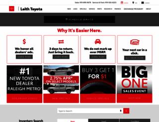 leithtoyota.com screenshot