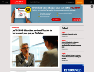 lejournaldesentreprises.com screenshot