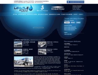 lemerle-bateaux.com screenshot