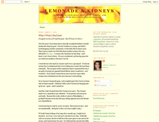 lemonade-and-kidneys.blogspot.com screenshot