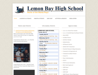 lemonbayhigh.com screenshot