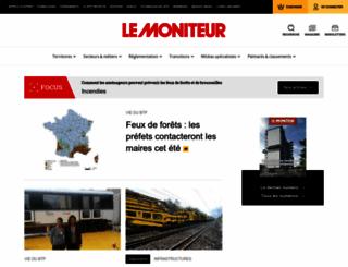 lemoniteur.fr screenshot