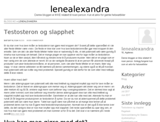 lenealexandra.blogg.no screenshot
