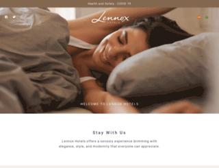 lennoxhotels.com screenshot