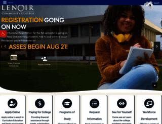 lenoircc.edu screenshot