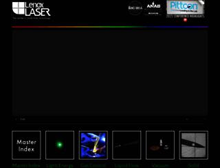 lenoxlaser.com screenshot