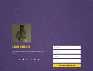 leonbridges.fanbridge.com screenshot