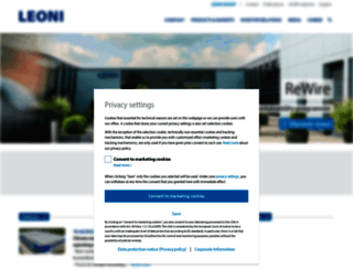 leoni.com screenshot