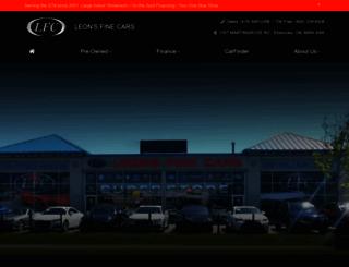 leonsfinecars.ca screenshot