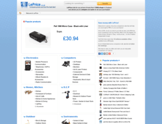 leprice.co.uk screenshot