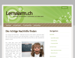 lernalarm.ch screenshot