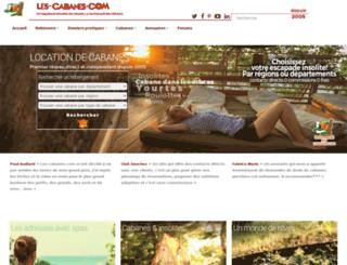 les-cabanes.com screenshot