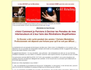 les-secrets-des-mentalistes.com screenshot