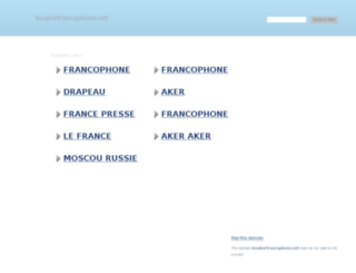 lesakerfrancophone.net screenshot