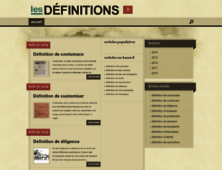 lesdefinitions.fr screenshot