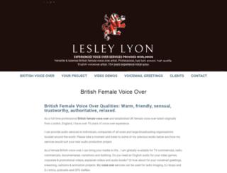 lesleylyon.com screenshot