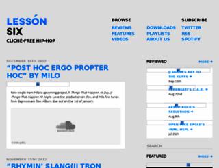 lessonsix.com screenshot