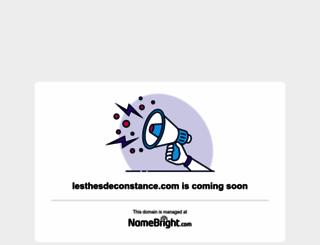 lesthesdeconstance.com screenshot