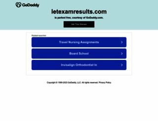 letexamresults.com screenshot