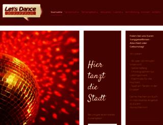 lets-dance-tanzschule.de screenshot