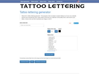 lettering-tattoos.com screenshot