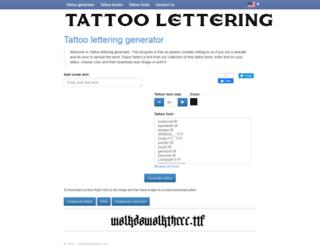 letteringtattoos.net screenshot