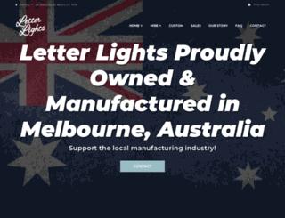 letterlights.com.au screenshot