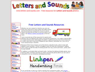letters-and-sounds.com screenshot
