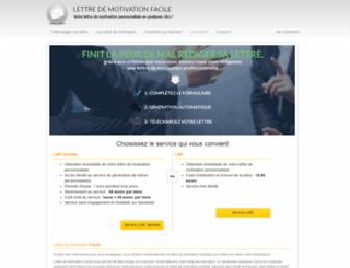lettre-de-motivation-facile.com screenshot