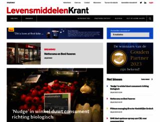 levensmiddelenkrant.nl screenshot