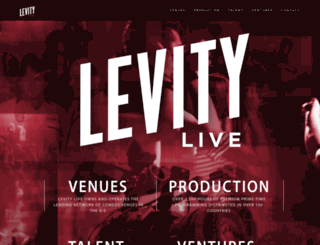 levitylive.com screenshot