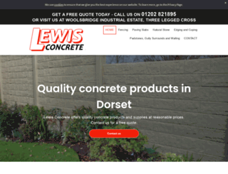 lewisconcrete.co.uk screenshot