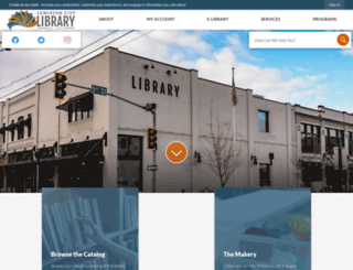 lewistonlibrary.org screenshot