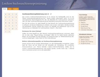lexikon-suchmaschinenoptimierung.de screenshot