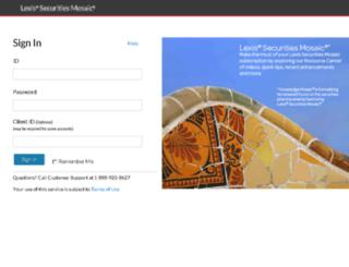 lexissecuritiesmosaic.com screenshot