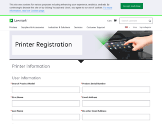 lexmarkregister.com screenshot
