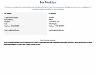 lexmeridian.com screenshot