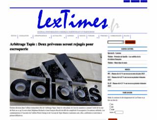 lextimes.fr screenshot