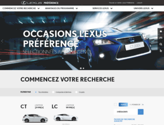 lexuspreference-occasions.lexus.fr screenshot