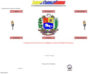 leyesvenezolanas.com screenshot