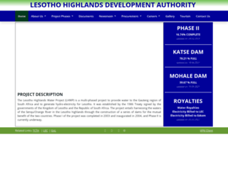 lhda.org.ls screenshot