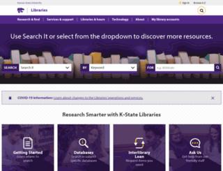 lib.k-state.edu screenshot