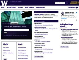 lib.law.washington.edu screenshot